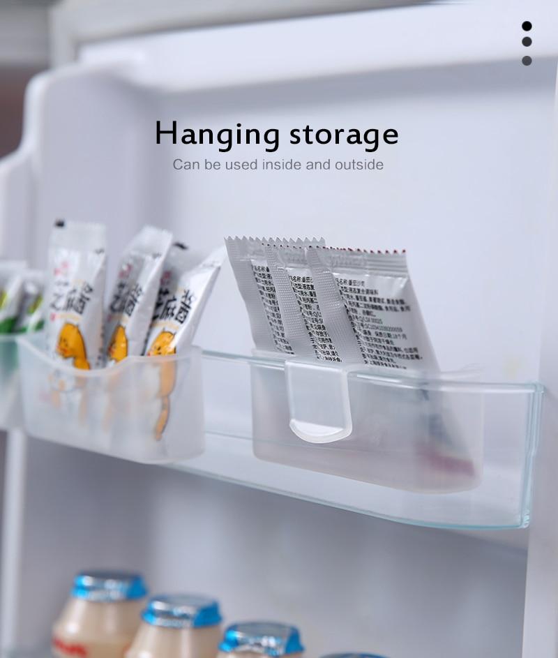 Лидер продаж, комплект из 2 предметов холодильник коробка для хранения Кухня аксессуары Скрытая стойка-держатель для хранения мешок соуса г...