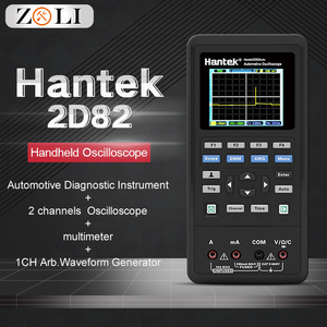 Image 1 - Hantek 2D82auto car oscilloscope 4 in 1 2 Channels Portable digital oscilloscope + Multimeter +Automotive Diagnosis+Handheld