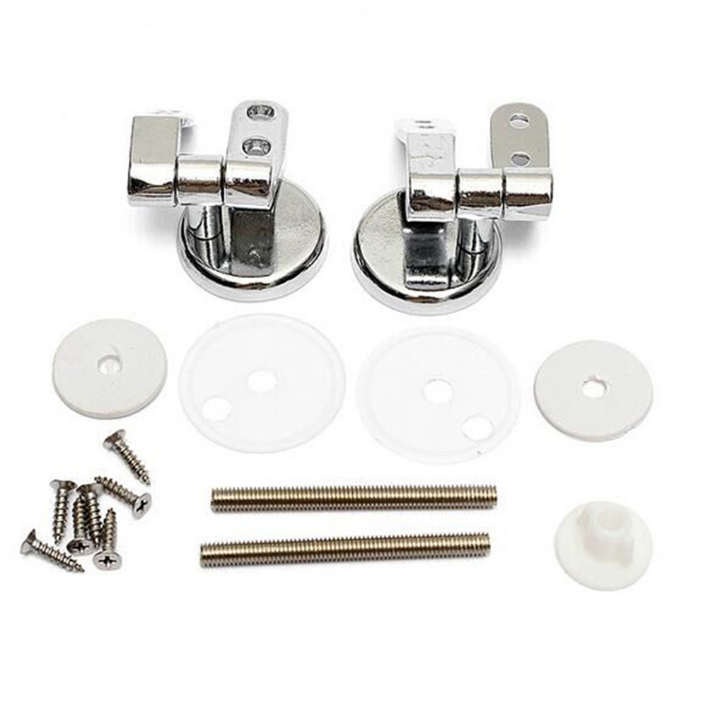 Toilet Chrome Hinges With Fittings Toilet Seat Replacement Mountings Top