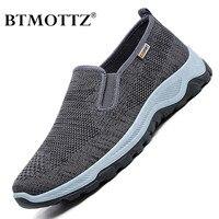 Zapatos informales de malla para Hombre, Zapatillas transpirables, mocasines ligeros sin cordones para caminar al aire libre, Tenis