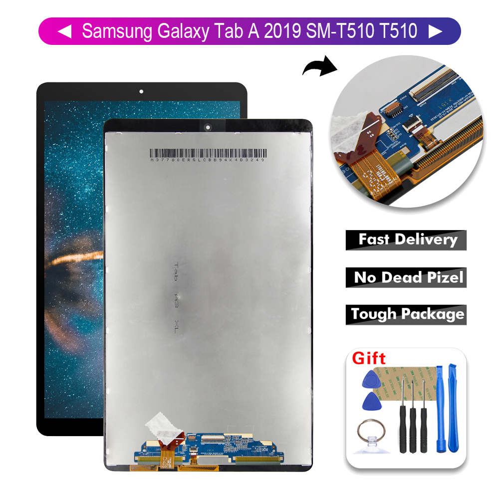 "LCD Display Touch Screen Assembly 10.1 ""LCD for Samsung Galaxy Tab A 2019 SM-T510 T510  Free Tools"