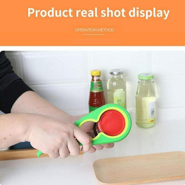 Multifunctional 4-in-1 Bottle Opener Open Can Quickly Twist Cap Kitchen Tool The Dropshipping