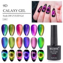 MIZHSE 9D Chameleon Magnetic Gel Nail Polish Long Lasting10ml Cat Eye Nail Art Gel Soak Off UV LED Shining Gel Varnish 3pcs ibdgel nail magnetic gel nail polish cat eye nail 9d art gel long lasting shining laser soak off uv led gel varnish 15ml