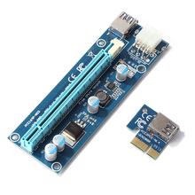 PCIe Riser dla BTC wydobycie PCI Express 1X do 16X karta adaptera 6 Pin zasilania PCI-e złącze zasilania Adapter tanie tanio ALLOYSEED CN (pochodzenie) NONE Dostępny w magazynie GPU Riser
