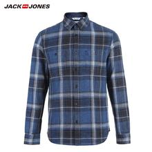 JackJones Mens 100% Cotton Slim Long sleeved Plaid Shirt 218405511