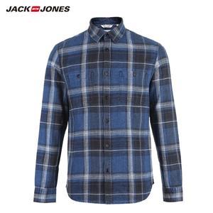 Image 1 - Jackjones Mannen 100% Katoen Slanke Lange Mouwen Geruite Overhemd 218405511