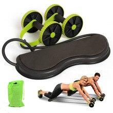 גלגל Ab רולר כפול שרירים מאמן גלגל בטן כוח התנגדות להקות כושר זרוע מותניים רגל אימון כושר תרגיל