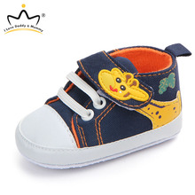 New Soft Cotton Baby Shoes Toddler Baby Boy Girl Shoes Cute Giraffe Print Sneakers First Walkers Anti-slip Sole Baby Girl Shoes