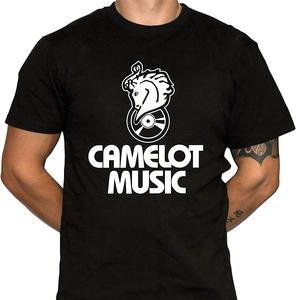 Camelot Music T-Shirt Defunct Music Store Mens Black Cotton T-Shirt unisex men women t shirt(China)