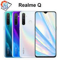 "Original Realme Q téléphone portable 6.3 ""plein écran 4GB RAM 64GB ROM Snapdragon 712 AIE Android 9.0 48.0MP quatre caméras Smartphone"