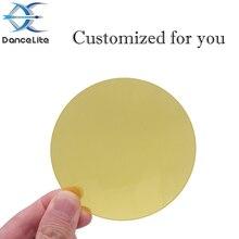 100 adet sarı şeffaf cam Lens yarı geçirgen cam sizin için özelleştirilmiş (86.00mm x 2.00mm)