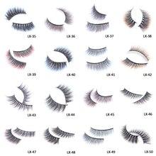 Wyuen Rainbow Colored Eyelashes Colorful Mink Eye lashes Soft Cilios Blue Brown Maquiagem Make up Lashes LX