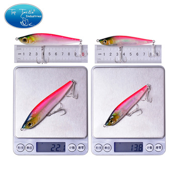 95mm 22g 80mm 14g Artificial Sinking Pencil Hard Jerk Bait Long Shot Fishing Lure with Laser Painting Jerkbait
