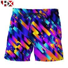 Летние крутые мужские шорты hx в стиле хип хоп с 3d принтом