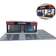 1/64 modelo de carro cena salão exposição reparação modificado arquitetura da fábrica modelagem diorama ho trem n escala layout ferroviário