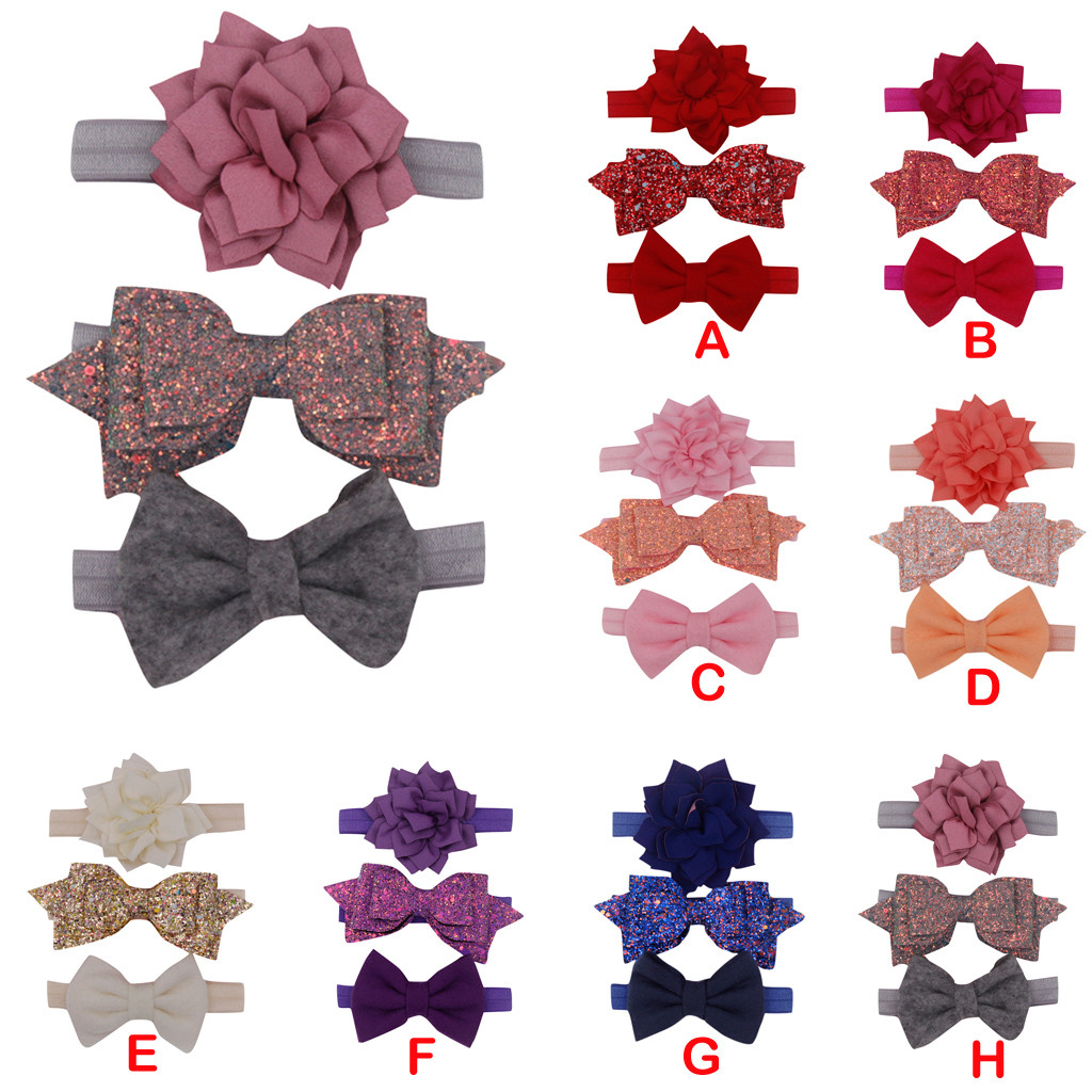 3pcs-kids-floral-headband-girls-baby-elastic-bowknot-accessories-hairband-set