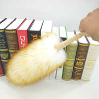 2019 New Soft Feather Duster Lambswool Dust Cleaner Wooden Handle Dust Brush Dust Cleaning Brush Household Cleaning Products
