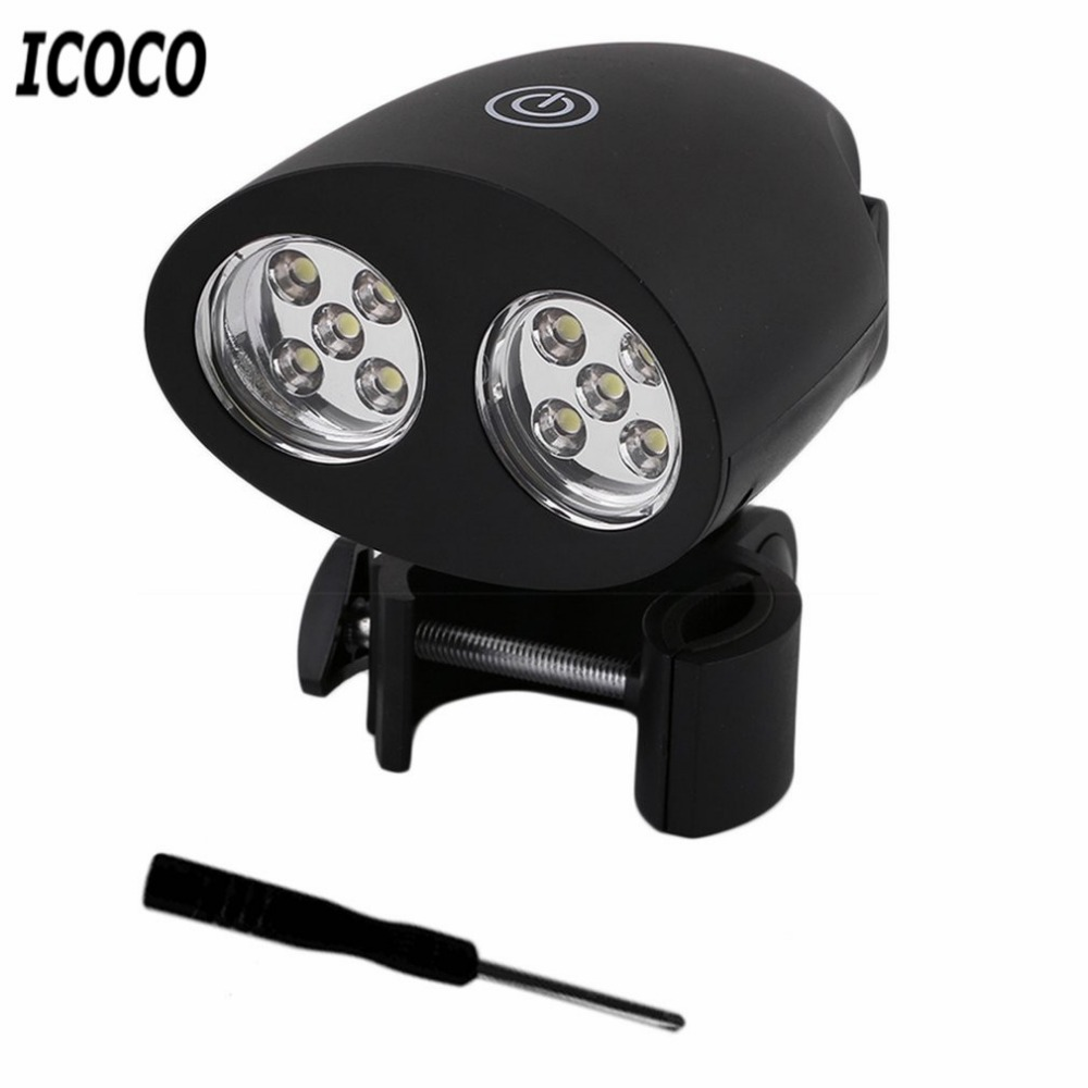 ICOCO Adjustable 10 LED BBQ Grill Light Outdoor Handle Mount Clip Barbecue Camp Lights Waterproof Heat Resistance Lamp
