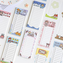 1pc New 50 Sheets Korean Kawaii Memo Pads Note Paper Message Decorative Daily To Do It List Notepad School Stationery