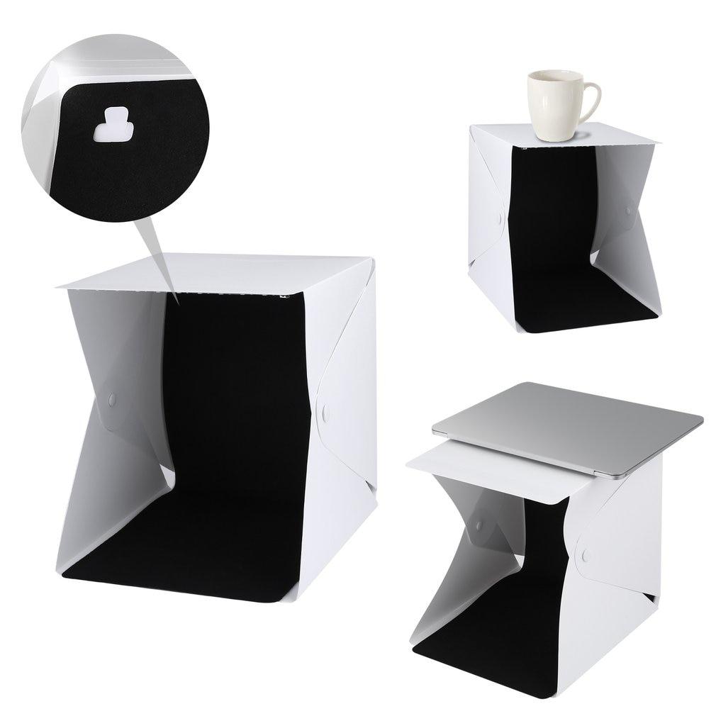 Lerbyee Folding Lightbox Photography Studio Softbox LED Light Soft Box Camera Photo Background Box Lighting for Smartphone