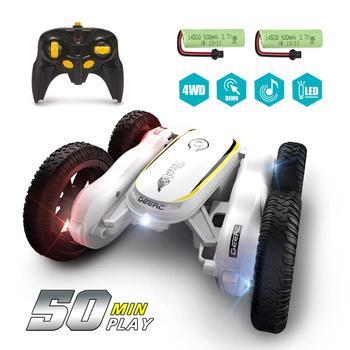 цена на DEERC RC Car 4WD Off Road High Speed RC Crawler Stunt Car Toys For Children Drift Buggy 360° Rotating Flips Vehicles 50 Mins