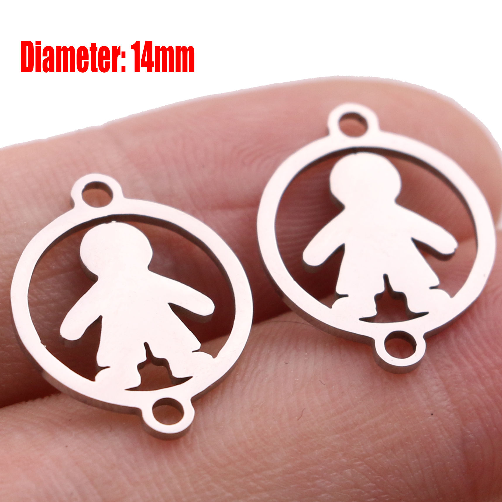 5pcs Family Chain Stainless Steel Pendant Necklace Parents and Children Necklaces Gold/steel Jewelry Gift for Mom Dad New Twice - Цвет: Steel 24