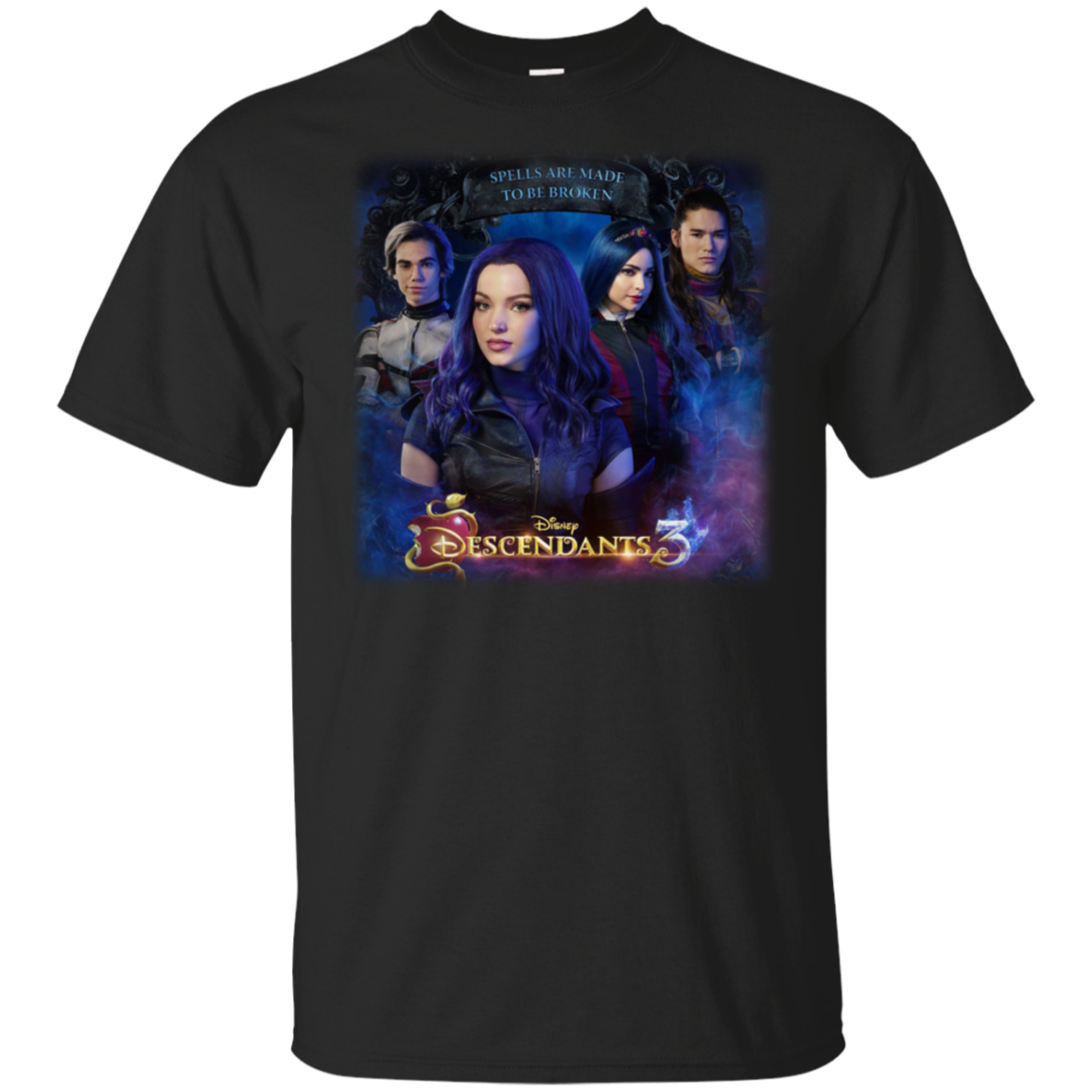 <font><b>D</b></font>!Sney Descendants 3 Cameron Boyce <font><b>2019</b></font> New T-Shirt Navy-Black For Men- Adult Summer Streewear Size:S-3Xl image