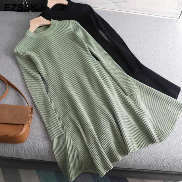 smooth sexy mid thigh long sleeve dress 4