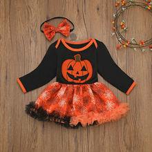 купить Fashion Halloween Dresses Jumpsuit For Children's Girls Newborn Infant Baby Clothes Romper  Dress Outfits Kids Vestido Clothing дешево