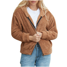 AMSGEND odzież damska moda damska płaszcz damski ciepły Faux płaszcz zimowy solidny kaptur odzież wierzchnia płaszcz damski płaszcz wierzchni damski tanie tanio CHAMSGEND CN (pochodzenie) REGULAR Osób w wieku 18-35 lat Skręcić w dół kołnierz zipper Na co dzień Pełna coat STANDARD