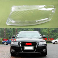 For Audi A8 D3 2002 2003 2004 2005 2006 2007 2008 2009 Headlight Transparent Cover Headlamp Cover Lampshade Lamp Shell Lens