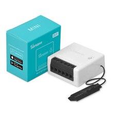1/10 adet Sonoff Mini DIY akıllı anahtarı küçük Ewelink uzaktan kumanda Wifi anahtarı desteği harici ile çalışmak alexa Google ev