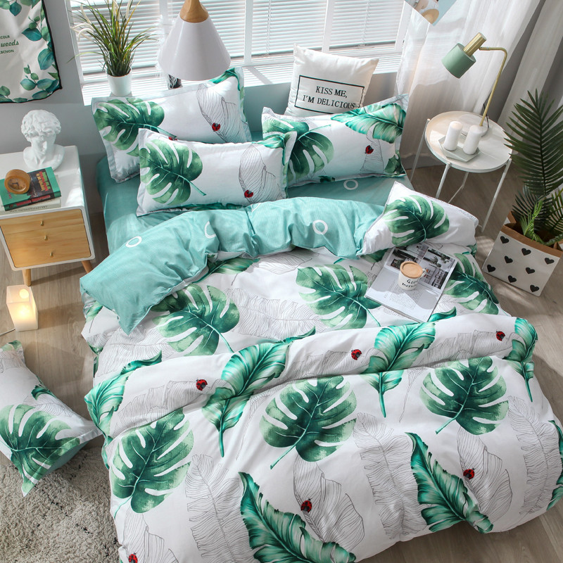 Summer Four-Piece Bedding Set Bed Linen Quilt Three Sets of Student Dormitory Single Quilt Bedding Set