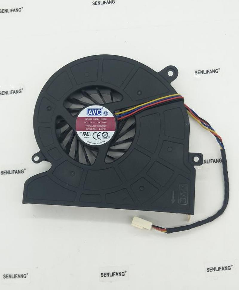Free Shipping For Dell Inspiron One 2320 IN 3048 2330 CPU Fan For BUB0812DD BASB1120R2U 03WY43 3WY43 Cooling Fan 4PIN Cooler