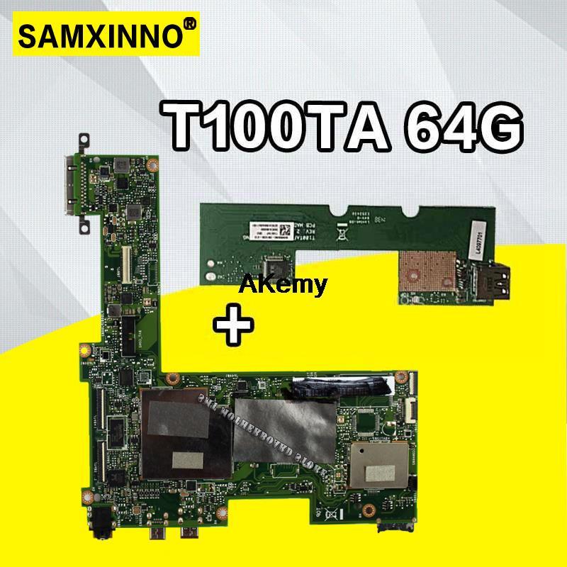 Send Board+T100TA Motherboard 64GB For ASUS T100TA Laptop Motherboard T100TA Mainboard T100TA Motherboard Test Ok