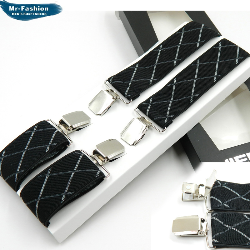 Cross Border Supply Of Goods Si Jia Adult Men Suspender Strap Boxed Top Grade Stripes Series Electricity Supplier Supply Current