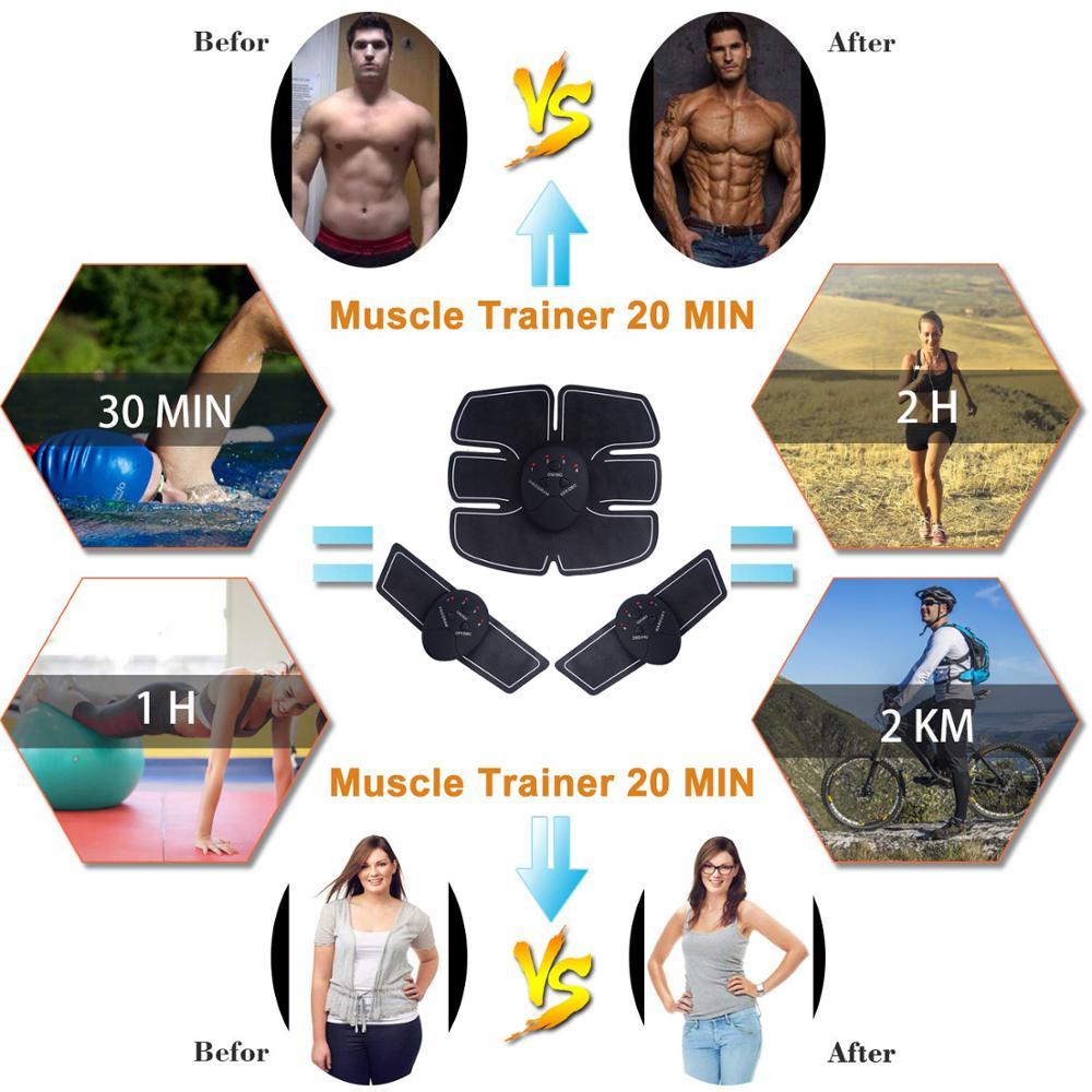 Muscle Stimulator EMS Massager Abdominal Muscle Trainer Electrostimulation Hip Trainer Abdomen Arm Exercise Machine Gym Equiment 5