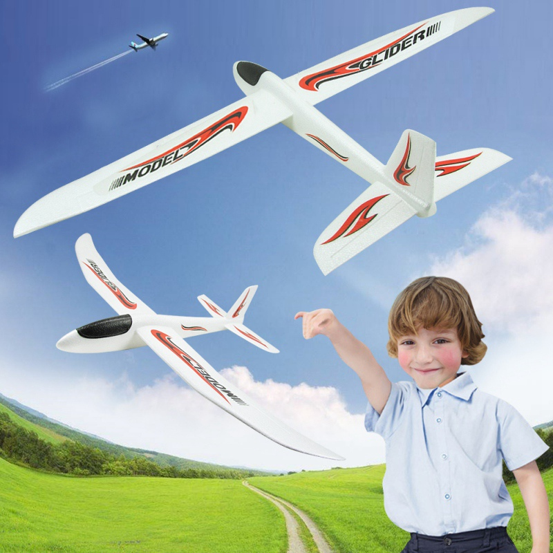 99cm Throwing Glider Inertia Plane Foam Aircraft Toy Hand Launch Airplane Outdoor Sports Toy For Kids