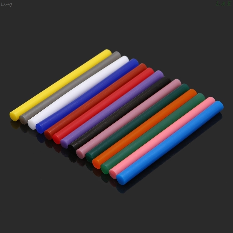 5pcs Hot Melt Glue Stick Colorful 7x100mm Adhesive For DIY Craft Toy Repair Tool U50A