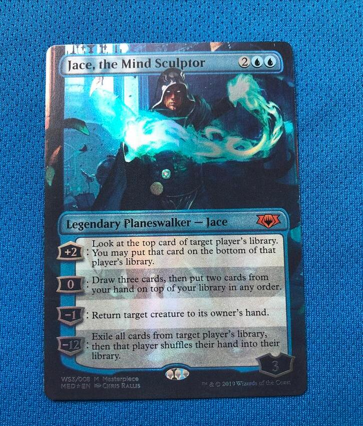 Jace, The Mind Sculptor	MED Mythic Edition Foil Magician ProxyKing 8.0 VIP The Proxy Cards To Gathering Every Single Mg Card.