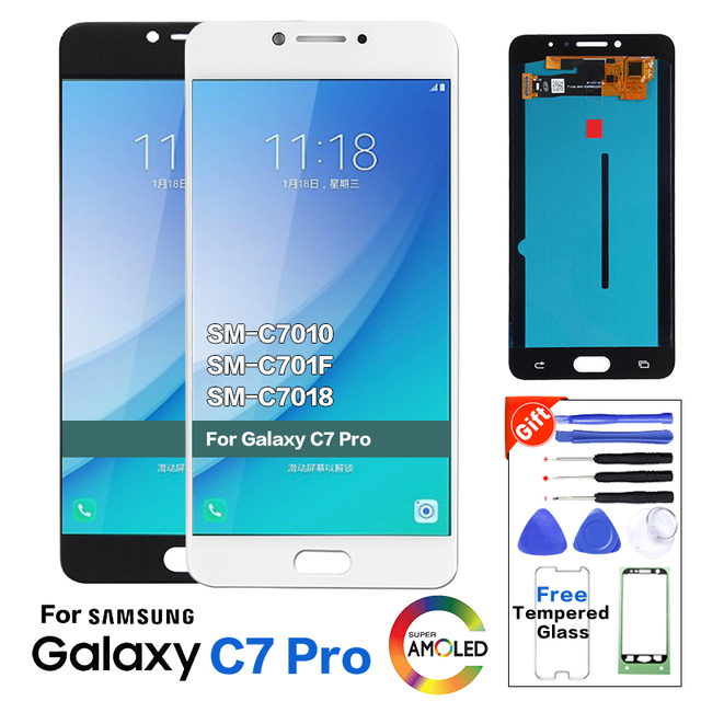 5.7 Display LCD Per Samsung Galaxy C7010 Schermo LCD C7 Pro SM C7010Z C7pro Display Touch Screen Digitizer Assembly