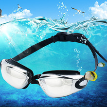 Adult HD Diving Swimming Goggles Colorful Electroplated Anti-fog Silicone Swimming Goggles Outdoor Swimming Supplies outdoor swimming diving regulator bracket tool mounting pressure protable diving equiment hose hook breathing spare accessories
