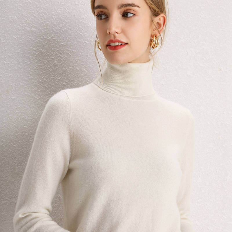Women Sweaters 100% Pure Cashmere Knitted Turtleneck Pullovers Winter Female Soft Warm Jumpers 10Colors Hot Sale Fashion Sweater