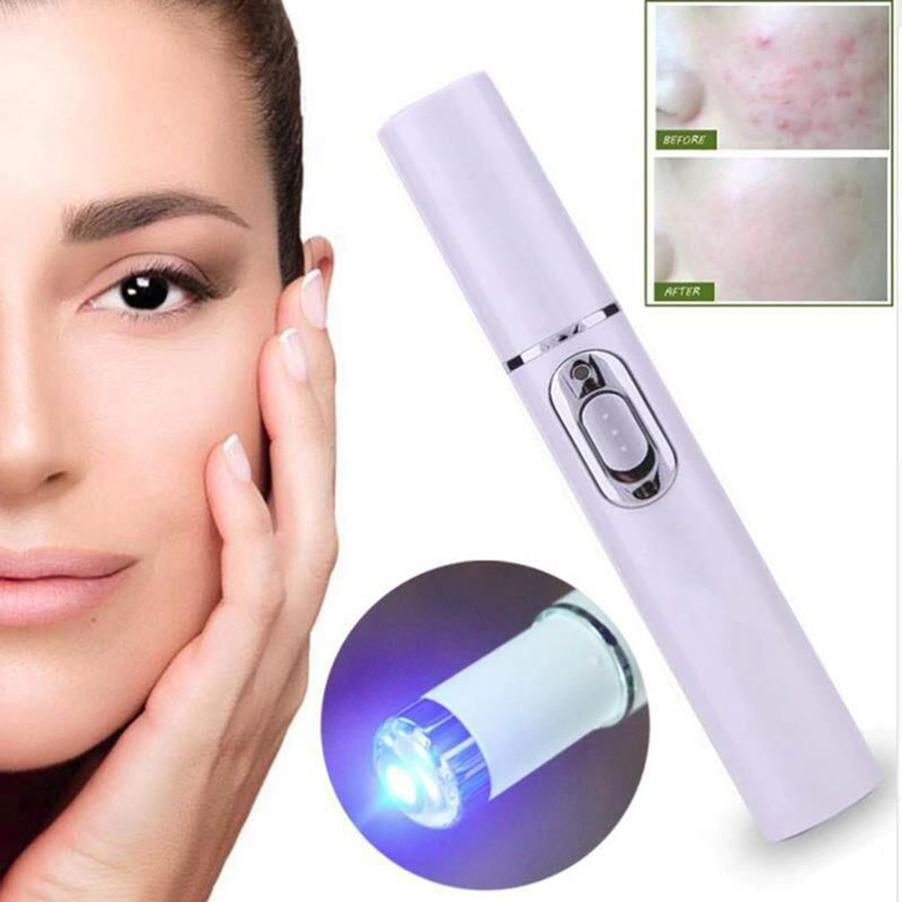 Kd-7910 Acne Laser Pen Machine Blu-Ray Acne Pen Portable Wrinkle Toxin Removal Treatment Massage Stainless Pen Massage