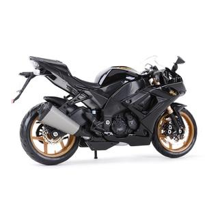 Image 3 - Maisto 1:12 kawasaki ninja ZX 10R preto morrer cast veículos colecionáveis hobbies motocicleta modelo brinquedos