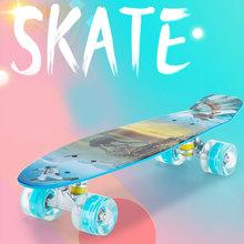 Kompletne deskorolki 22 4 Cal Mini Cruiser deskorolka z koła poliuretanowe dla początkujących dziewcząt chłopców młodzieży młodzieży YS-BUY tanie tanio Mix equipment CN (pochodzenie) Płaski Other Skate Board
