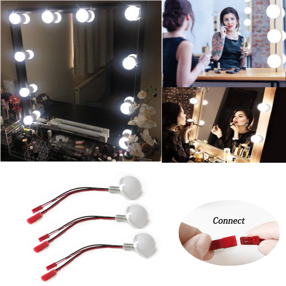 Hot Sale 04dc Led Makeup Mirror Light Led Hollywood Light 2 6 10 14bulb 12v Eu Us Plug Dimmable Touch Control Diy Lighting For Dressing Table Cicig Co