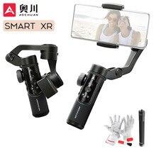 Aochuan smart xr 3-axis handheld cardan telefone estabilizador selfie vara para iphone 12 11 x huawei xiaomi vs snoppa/hohem isconstante x