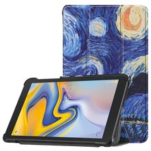 Folio Stand Case untuk Samsung Galaxy Tab 8.0 T387 SM-T387 2018 8.0 Inci Segitiga Cover Funda Case Tablet + film + Pen(China)