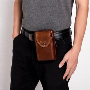 Image 2 - Neue Leder Mini Messenger Taschen für Männer Retro Business Büro Kleine Schulter Tasche Lässig Brieftasche Mini Reise Telefon Beutel #40